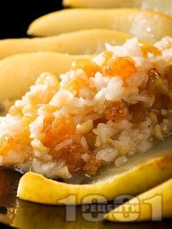 Сладко плодово ризото с круши, бадеми и стафиди - снимка на рецептата